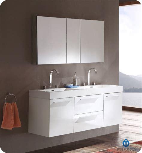 modern double sink vanity 54 fresca opulento fvn8013wh white modern double sink