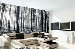 Schwarz Weiß Kissen : moderne wohnzimmer wandgestaltung in schwarz und wei ~ Frokenaadalensverden.com Haus und Dekorationen