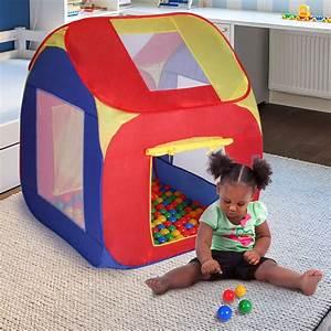 Kinderzelt Mit Bällen : spielzelt mit 200 b lle tasche kinderzelt b llebad haus ~ Watch28wear.com Haus und Dekorationen