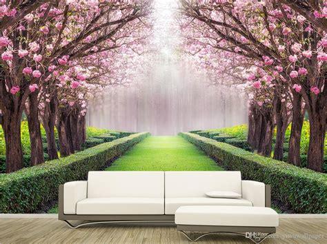 Luxury European Modern Beautiful Scenery Flowers And Trees