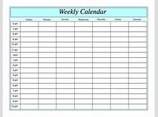 Weekly Planner Printable With Times listmachineprocom