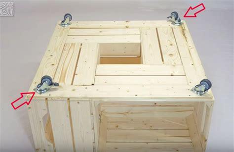 cuisine à peindre fabriquer une table basse avec des caisses de vin des idées