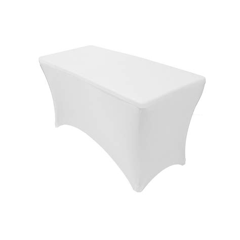spandex table covers cheap 4 ft rectangular spandex table covers white wholesale