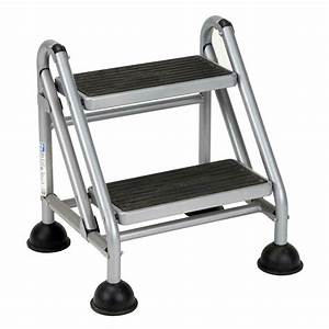 Cosco, Rolling, Commercial, Step, Stool, 2, Black, 44681118722