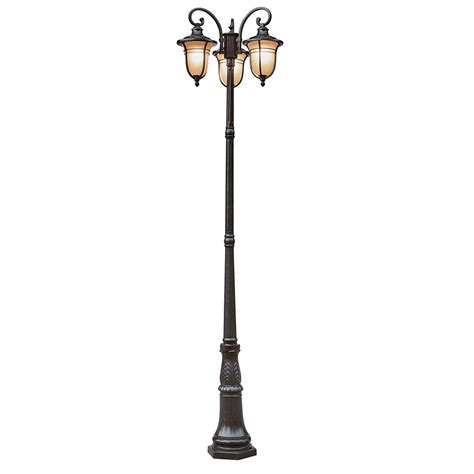 l post light fixtures trans globe 5707 rob amber drop 3 light pole outdoor l