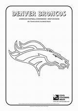 Coloring Broncos Denver Football Steelers Gcssi Logos Seahawks Pittsburgh sketch template