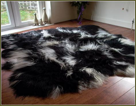 black fur rug black sheepskin rug ikea rugs ideas