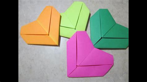 origami   letter fold heart youtube