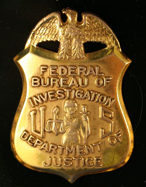 fbi bureau file badge of a federal bureau of investigation special