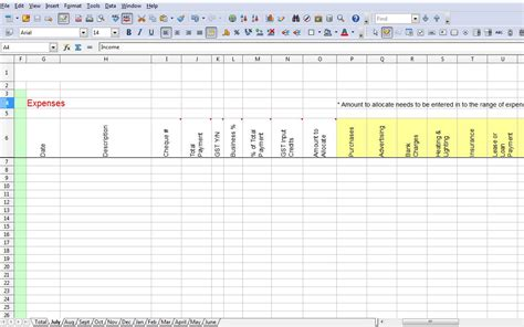 spreadsheet  tax expenses db excelcom