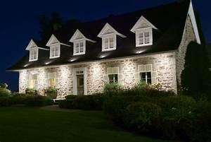 Éclairage Façade Maison : bien connu eclairage facade maison led ga54 montrealeast ~ Melissatoandfro.com Idées de Décoration
