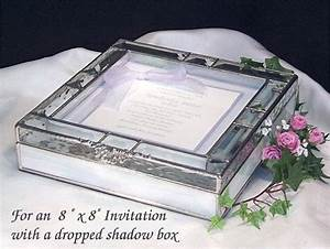 stained glass invitation keepsake box with a dropped With glass box wedding invitations
