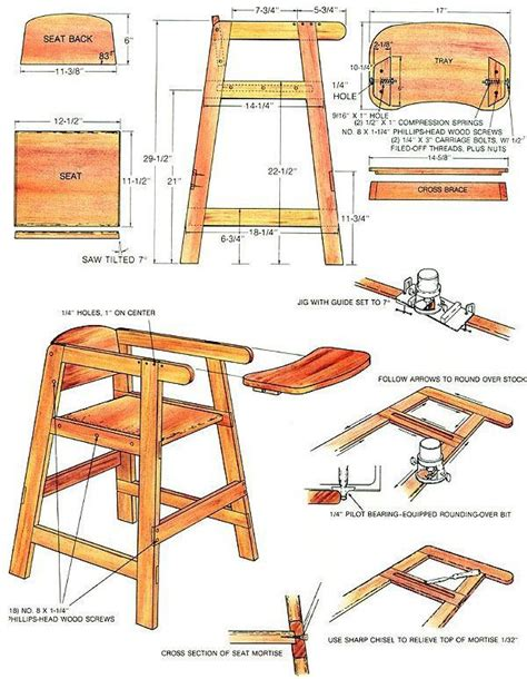 build  homemade high chair    mother earth news earth news  high chairs