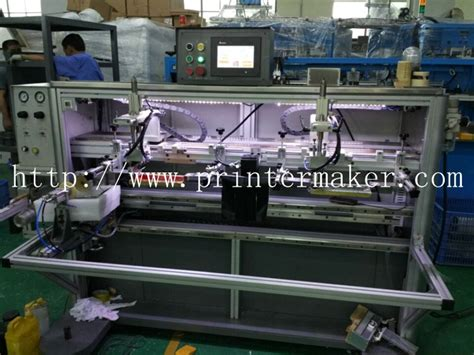 colors mugs automatic silk screen printing machine  led uv curing system