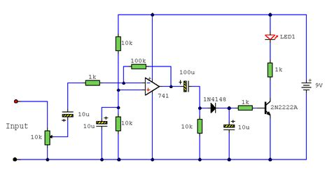 Audio Indicator Lm741 Circuit Project