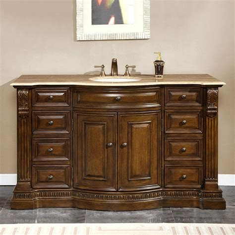 Bathroom Vanity 60 Single Sink by 60 Inch Travertine Top Bathroom Vanity