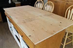 Kitchen Island Base Cabinets Diy Faux Soapstone Countertop Chris