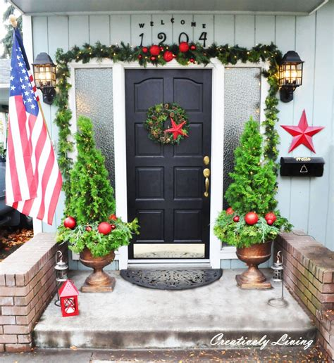 christmas front porch creatively living blog