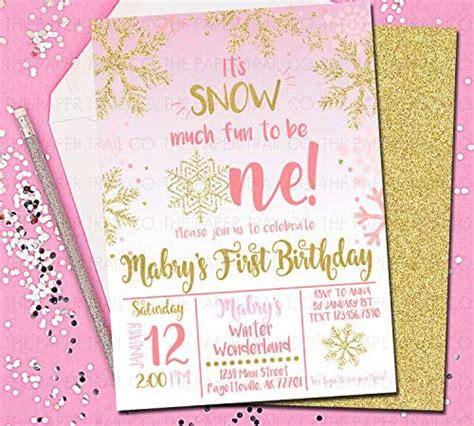 amazoncom winter onederland invitations st birthday