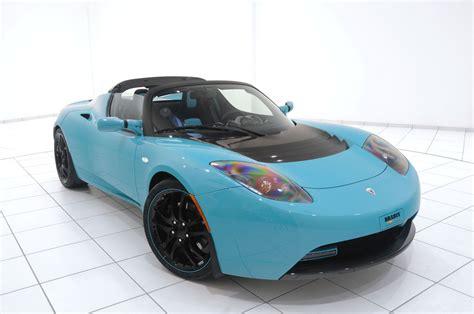 Tesla Car : Brabus Green Tesla Roadster Sport