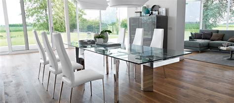 Poltroncine Moderne Calligaris : Calligaris Tower Modern Extendable Glass Dining Table