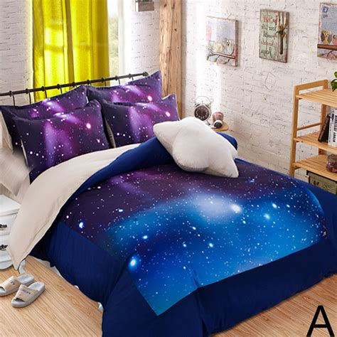 Hipster Galaxy 3d Bedding Set Universe Outer Space Themed