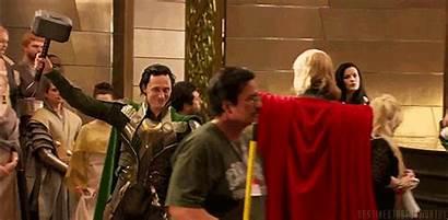 Behind Scene Loki Thor Hiddleston Tom Mischief
