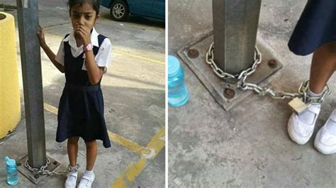 Malaysian Mother Chains Daughter To Lamp Post Leaves Her There As Punishment
