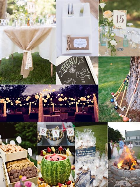backyard wedding idea essential guide to a backyard wedding on a budget