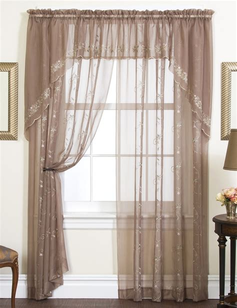 emelia embroidered sheer curtains    colors