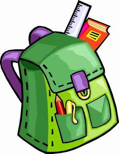 Supply Clipart Supplies Kinder Items Bag Primary