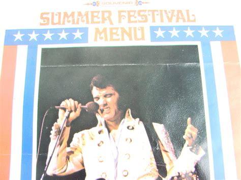 Elvis Presley Souvenir Original Summer Festival Menu Las