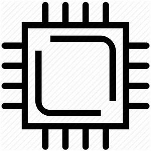 Microchip, processor, processor chip, processor cpu icon ...