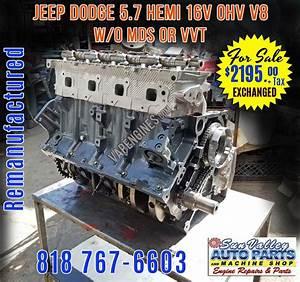 Remanufactured Chrysler Dodge 5 7 Hemi Engine W  O Mds For Sale