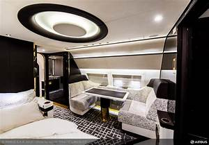 Luxury interior of airbus corporate jet inspired by art for Art deco train interior