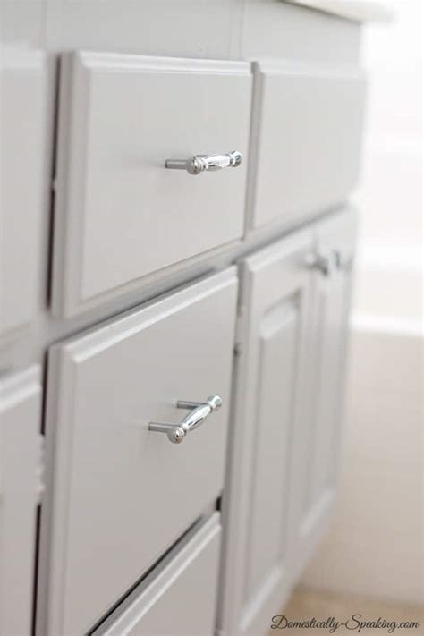 how to install bathroom cabinets and vanities installing cabinet hardware the easy way domestically