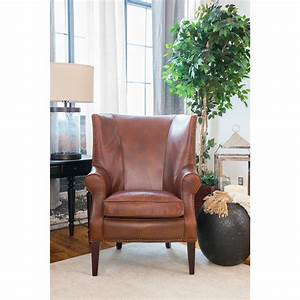Brayden, Leather, Wingback, Chair