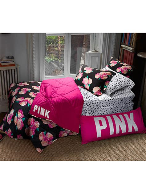 Secret Pink Bedding by Reversible Quilted Comforter Pink S Secret