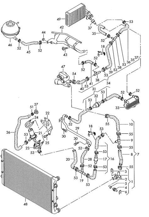 audi  cooling system diagram audi pinterest audi