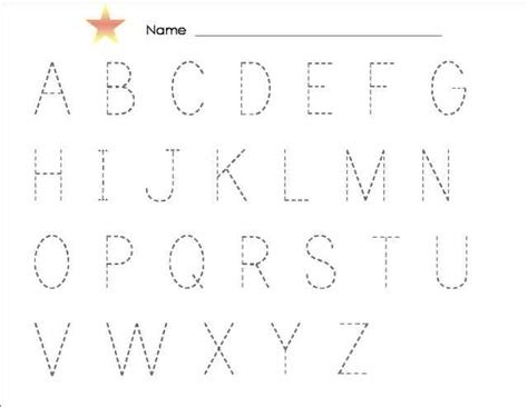 Traceable Alphabet Templates by Tracing Alphabet Abc Kiddo Shelter