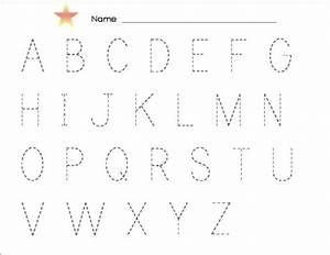 tracing alphabet abc kiddo shelter With traceable letters and numbers for preschoolers