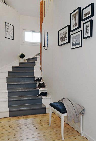 repeindre escalier en 2 couleurs gris perle et gris