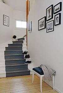 les 25 meilleures idees de la categorie escalier en bois With wonderful repeindre un escalier en gris 1 escalier bois et blanc idees pour lentree et le couloir