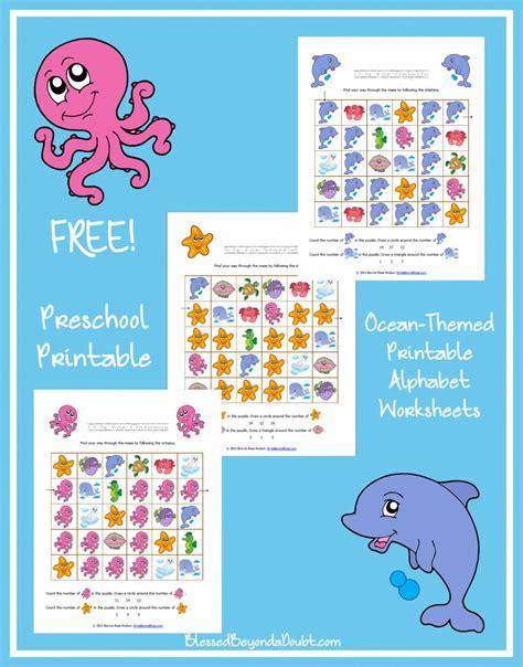 Free Oceanthemed Printable Alphabet Worksheets For Preschool Writebonnierosecom