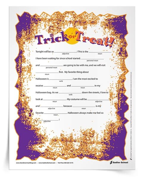 printable halloween language arts worksheets