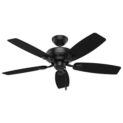 matte black ceiling fan hunter sea wind 48 in indoor outdoor matte black ceiling