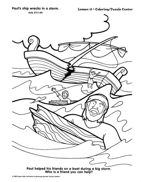 Kleurplaat Paulus Schipbreuk by Paulus Leidt Schipbreuk Children S Ministry Paul