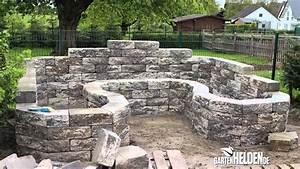 Hochbeet Aus Stein Selber Bauen : wandgestaltung wohnzimmer trockenmauer selbst bauen aus ~ Lizthompson.info Haus und Dekorationen