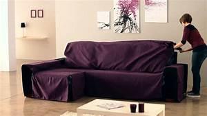 couvre canape d39angle avec accoudoirs cousus youtube With tapis ethnique avec plaid recouvrir canapé