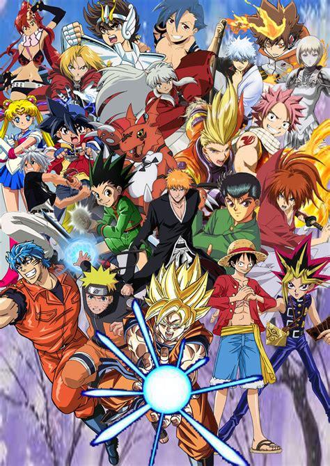 anime shounen anime and shonen jump protagonists by supersaiyancrash on
